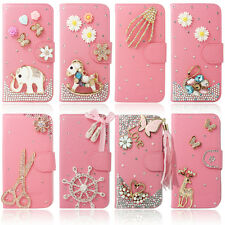 Pink Bling Diamond Wallet Leather Stand Case Cover For Samsung Galaxy S2 T989