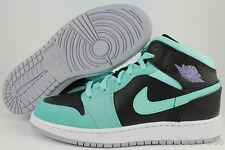 NIKE AIR JORDAN 1 MID GG BLACK/PURPLE/TURQUOISE BLUE GREEN WOMEN GIRL KIDS YOUTH