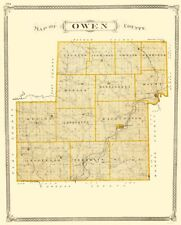 OWEN COUNTY INDIANA (IN) BY BASKIN FORESTER & CO 1876