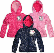 Girls Hello Kitty Coat Kids Winter Hooded Jacket Pink Navy New Age 3 4 6 8 Years