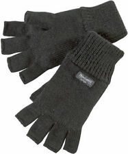 LADIES WINTER THERMAL WARMTH THINSULATE LINED FINGERLESS GLOVES WALKING HIKE