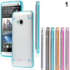 Ultra Thin Clear Transparent Glow Soft Gel Hard Case Skin Cover For HTC ONE M7
