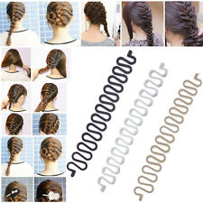 1X French Hair Braiding Tool Roller With Hook Magic Twist Styling Bun Maker
