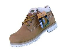 KINGSHOW Men Winter Premium Oxford Snow Leather Work Boots