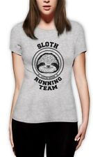Sloth Running Team Women T-Shirt Costume Lazy Sloth Ask Me Why Hipster Funny Top