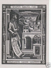 EX LIBRIS BOOKPLATE DI GIANNI MANTERO n 1