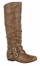Nature Breeze Vickie-20 Women's Flat Faux Leather Boots