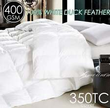DUCK FEATHER 350TC Cotton Covered QUILT/DOONA King/Queen/Double/Single Size