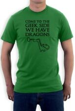 Come To The Geek side T-Shirt Dragons Cookies Dark Side Print GOT Funny Tee GOT