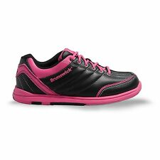 Brunswick Diamond Bowling Shoes Black Hot Pink