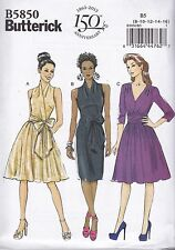 Butterick Easy Sewing Pattern Misses' Dress Fitted Lined Bodice Size 8 -24 B5850