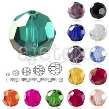 100Pcs 6x6mm Center Drilled Crystal Beads Fat Round Faceted Glass Rondelle DIY