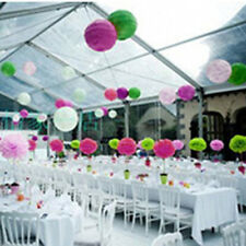 20pcs 6'' Wedding Party's  Home Outdoor Decor Tissue Paper Pom Poms Flower Balls
