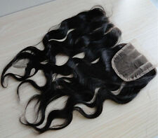 "5A Black3.5""x4""natural wave 3 part 100% Brazilian Virgin human Hair Lace Closure"