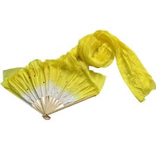 1.8m Hand Made Belly Dance Dancing Silk Bamboo Long Fans Veils 5 Colors NEW