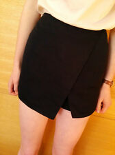 ♥New TOPSHOP Luxe Black Ottoman Shorts Skort Skirt Size 8 10 12 14 16 RRP £32♥