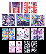For Samsung Phone Colored Painting Sweet PU Leather Cash Wallet Case Cover Stand