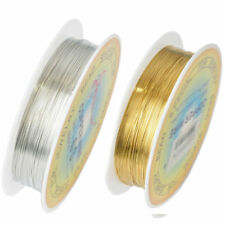Gold Silver Plated Cord String Thread Beads Bracelet Making Wire 0.25-0.6mm