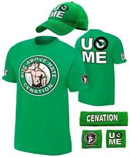 John Cena Mens Green Costume Hat T-shirt Wristbands