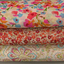 """Printed Poly Georgette / Chiffon Magenta Paisley Dress Fabric -  Extra Wide 55"""""""