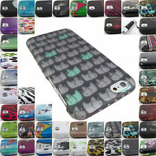 """FOR APPLE IPHONE 6 (4.7"""")/6 PLUS (5.5"""") DESIGN HARD SNAP-ON CASE COVERS+STYLUS"""