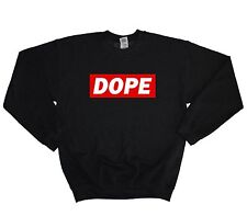 Dope Box Print Sweater Sweatshirt Jumper Baggy Men Women Swag Hipster