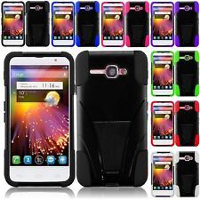 For Alcatel One Touch SONIC LTE Hybrid Hard Cell Phone Case+Soft Silicone Cover