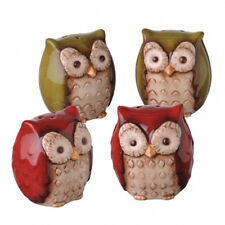 470275 Owl Salt & Pepper Shaker Set Crimson Hollow Kitchen Decoration