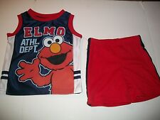 Infant Toddler Boys Short Set Sesame Street Elmo (Athletic Department) NWT