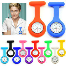 Tunic Quartz Movement Watch women rubber Jelly Nurse Watch Brooch Fob pocket