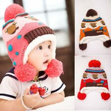 New Baby Toddler Infant Knit Mickey Winter Thicken Hat Cap Ears Protect Earflap