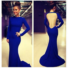 Sexy Women Long Sleeve Bandage Bodycon Evening Party Cocktail Long Maxi Dress
