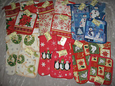 Holiday Kitchen Towel Oven Mitt Pot Holders Cook Clean Seasonal NEW!