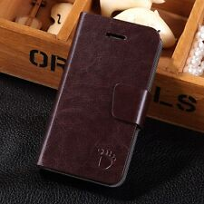 Hot Luxury Magnetic PU Leather Flip Wallet Card Case Stand Cover For iPhone 4 4S