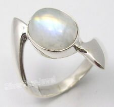 925 Sterling Silver RAINBOW MOONSTONE Ring All Sizes