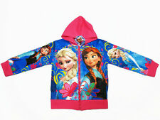 Frozen Girl Hooded Hoodie Spring Jacket #0836 Blue,Pink Size 4-10 age 3-10
