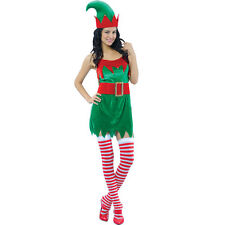 Ladies Enchanting Elf Costume Outfit for Christmas Panto Nativity Fancy Dress