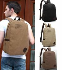 Brand Vintage Men/Girls Canvas Laptop Backpack School College Rucksack BookBag