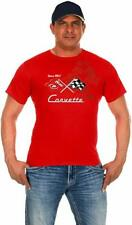 Corvette Racing T-shirt Red Cotton Mens 2-Sided Logo Shirt Corvette Racing Shirt