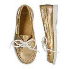 Gymboree NWT Stripes and Anchor Gold Boat Shoes Sizes 10 11