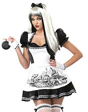Dark Alice In Wonderland Evil Princess Sexy Womens Fancy Halloween Costume S-XL