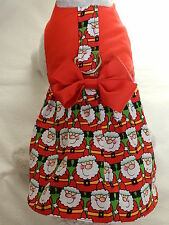DOG CAT FERRET Custom Harness Dress~Red Christmas Santa Claus Festive Bow