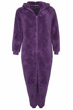 Yoursclothing Plus Size Womens Rabbit Hooded Fluffy Onesie With Zip Fastening