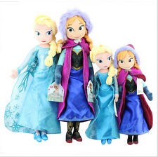 Anna Elsa Disney Frozen 40cm 50cm Doll Princess Soft Stuffed Plush Toy Kid Gift