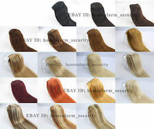 "W25 New Fashion STW Clip in 100% Remy Human Hair Extensions Full Head 15""-28"""