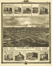 Panoramic Print - Chariton Iowa - Andreas 1875 - 23 x 28.98