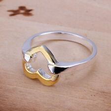 925 sterling silver heart ring separations Size 6-10 F128