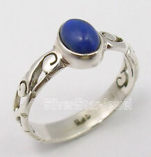 925 Silver Lapis Lazuli CUTE CELTIC Ring Any Size