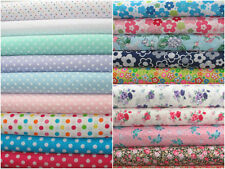 Polka Dot Retro Polycotton Fabric, Poly Cotton Flower Print, Metres & 1/2 Metres