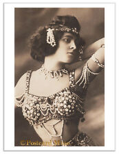 EXOTIC SEMI NUDE DANCER Vintage Postcard Photo Greeting Card Or Print SD148